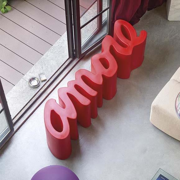 Slide AMORE Design (Garten)Bank In Outdoor