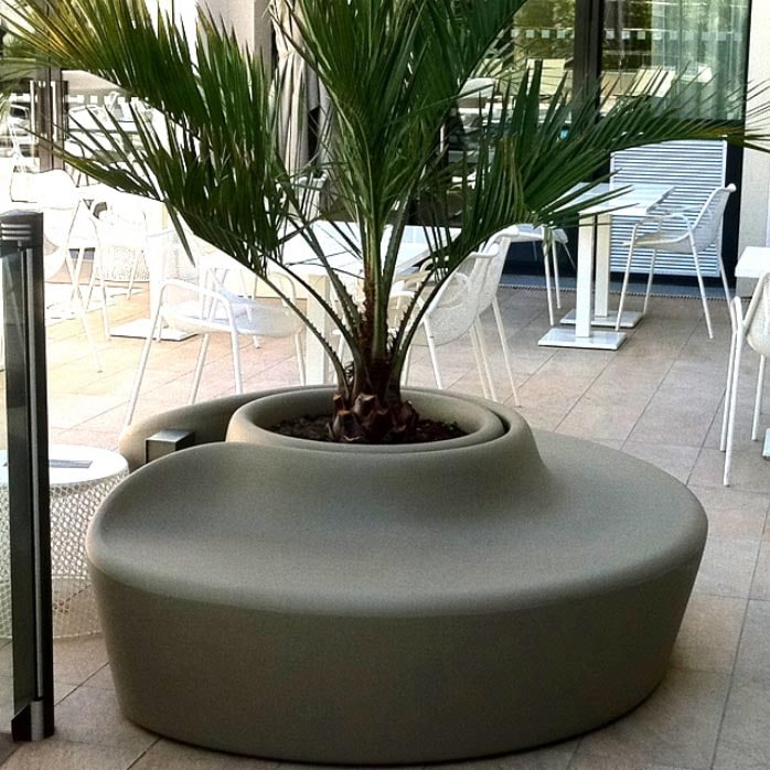 Qui-est-Paul - Mega Design: Luxus Gartensofa Design Rundbank,Baumbank