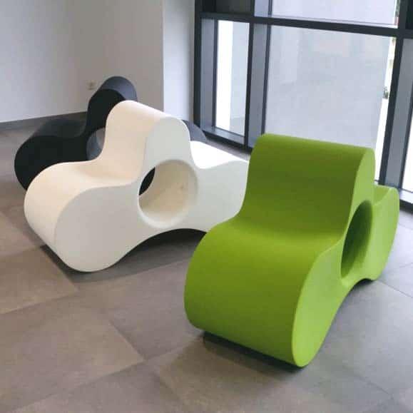 Slide WHEELY Designer Sitzmöbel, Bank, Ablage In Outdoor