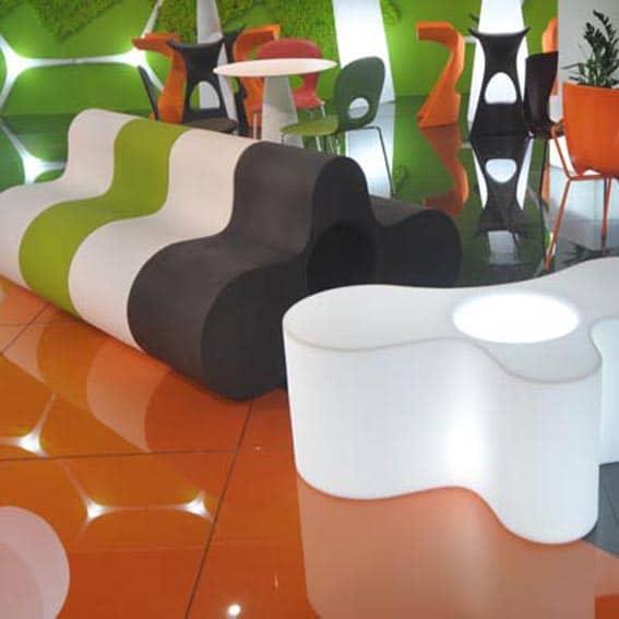 Design sitzmöbel  Slide WHEELY Bank lautes PANG für ein modernes mutifunktionales Möbel