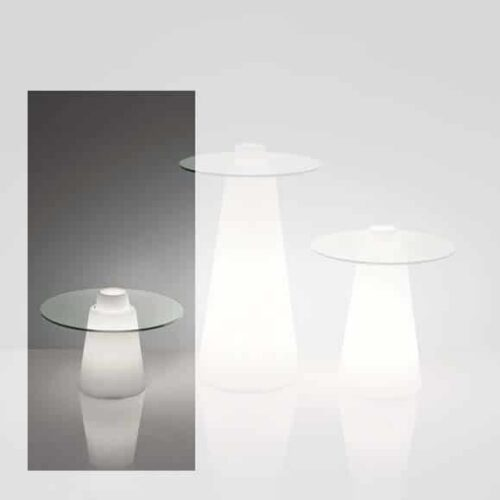 Slide PEAK LIGHT Sofa-Tisch 40 cm Höhe, rund Ø 70+80cm oder 80×80 cm