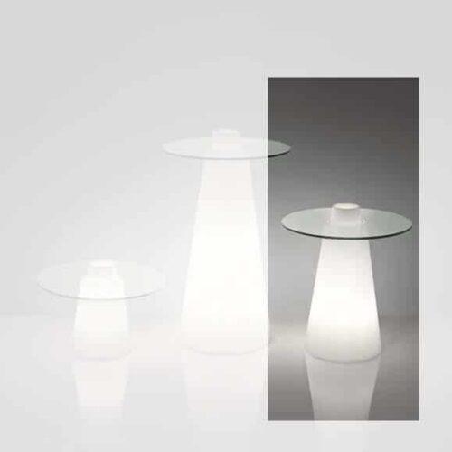 Slide PEAK LIGHT Tisch 50 cm Höhe, rund Ø 70 oder 80 cm
