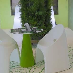Slide PEAK Tisch LACK 80 cm h, rund Ø 70 o. 80 cm In-Out