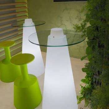 Slide PEAK Tisch LIGHT 120 cm h, rund Ø 70 o. 80cm