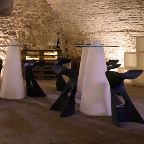 Slide PEAK Tisch LACK 120 cm h, rund Ø 70 oder 80 cm