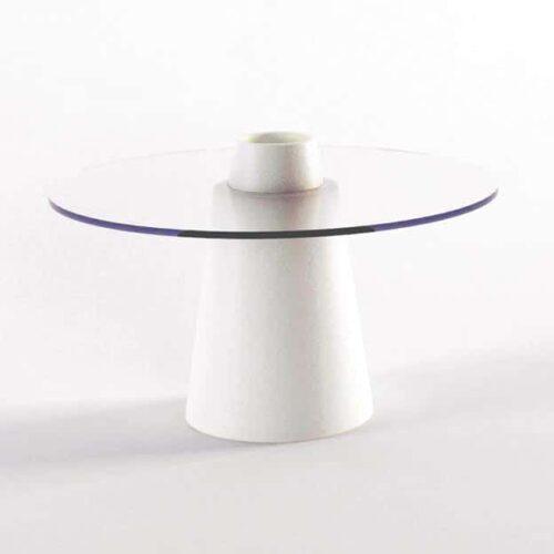 Slide PEAK LACK Tisch 50 cm Höhe, rund Ø 70+80cm