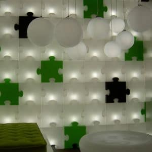 Slide PUZZLE-Corner LIGHT Modul Indoor