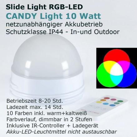 Slide CANDY LIGHT RGB-LED AKKU Modul
