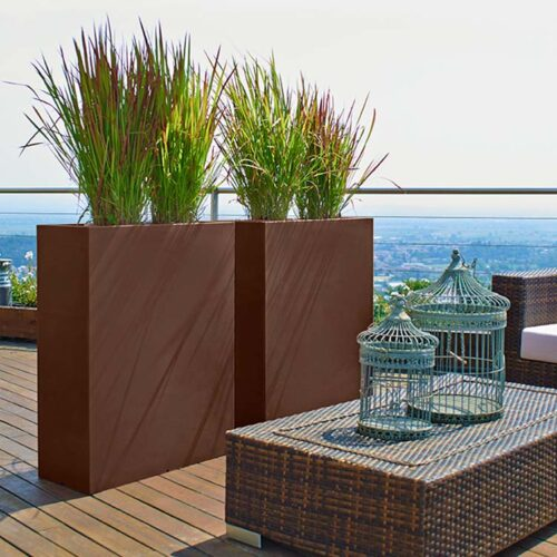 pflanzgef e als b ro raumteiler sichtschutz f r die terrasse. Black Bedroom Furniture Sets. Home Design Ideas