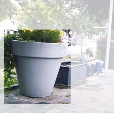 Riesige Pflanzgefäße für städtische Begrünung, Shopping Mall, Park