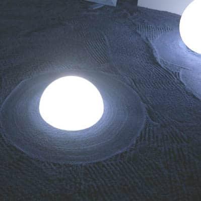 Slide MEZZO GLOBO OUTDOOR Halbkugel beleuchtet 4 Gr. Ø 40-120