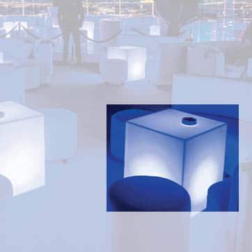 Slide CUBO 50x50x60! cm Light Leucht-/Sitzwürfel In-Outdoor