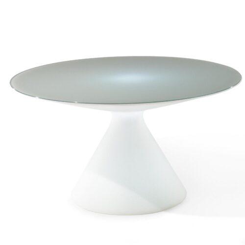 Slide ED LIGHT Tisch beleuchtbar mit Glasplatte Ø 140 cm, 72 cm h