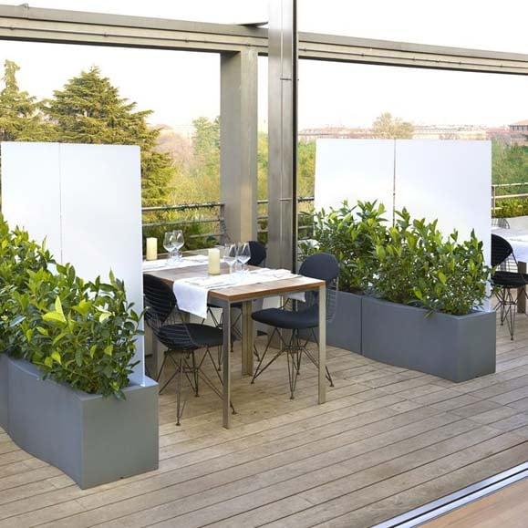 slide priv raumteiler pflanzkasten sichtschutz b ro balkon terrasse. Black Bedroom Furniture Sets. Home Design Ideas