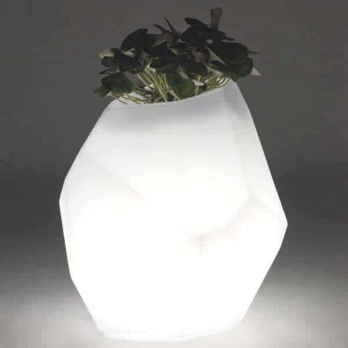 Slide SECRET Design Vase beleuchtet 52 cm h, Indoor-Outdoor
