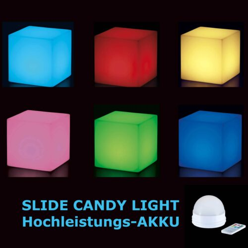 Slide CUBO BIZ 50 BLUETOOTH-RGB-LED-AKKU CANDY LIGHT In-Outdoor