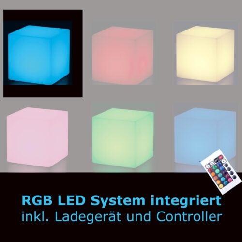 Slide CUBO LED AKKU-Modul Auswahl-Größen 30 40 o. 50 cm In-Outdoor
