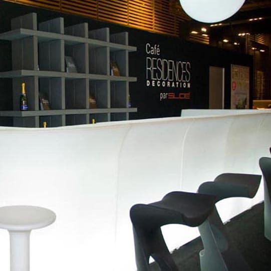 SLIDE JUMBO Bar - beleuchtete Theke modular - der formschöne Klassiker