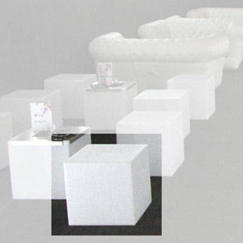 Slide CUBO 40 LACK (43 cm) Ablage-Sitzmöbel / Sitzwürfel