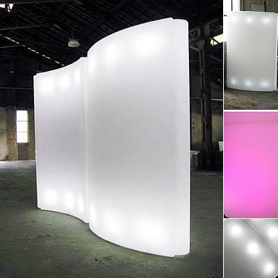 Slide Gió Wind Raumteiler Paravent Display Beleuchtet Indoor