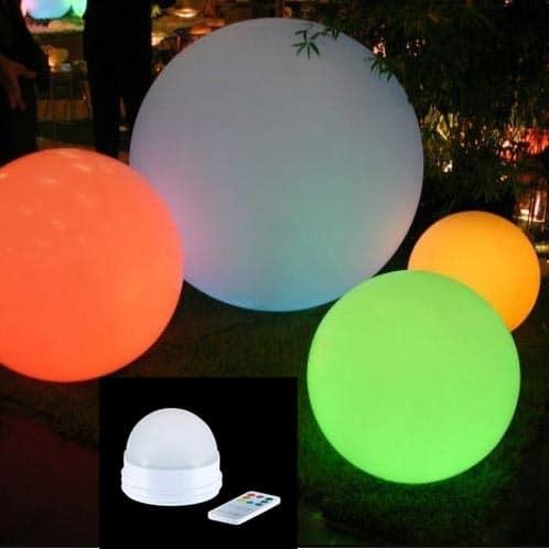 Slide GLOBO LED Ø 60 70 80 cm Bodenleuchte kabellos In-Outdoor