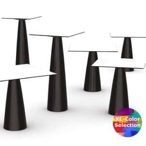 Slide HOPLÁ Stehtisch 110 cm Höhe, quadratisch 70×70 o. 80×80 In-Out