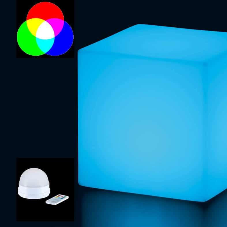 slide cubo 75 cm gro er leuchtw rfel mit candy light 10 watt led akku. Black Bedroom Furniture Sets. Home Design Ideas