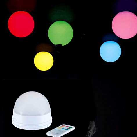 Slide GLOBO BIZ 30 40 50 mit LED-AKKU CANDY LIGHT In-Outdoor