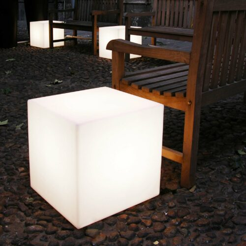 Slide CUBO 40 LIGHT E27 Sitzwürfel 43 cm, In-Outdoor