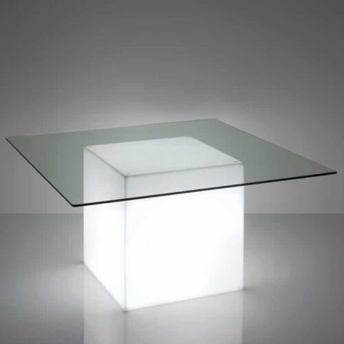Slide SQUARE LIGHT XL Glastisch quadratisch,150×150 cm