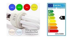 Energiespar-Beleuchtung optional inklusive