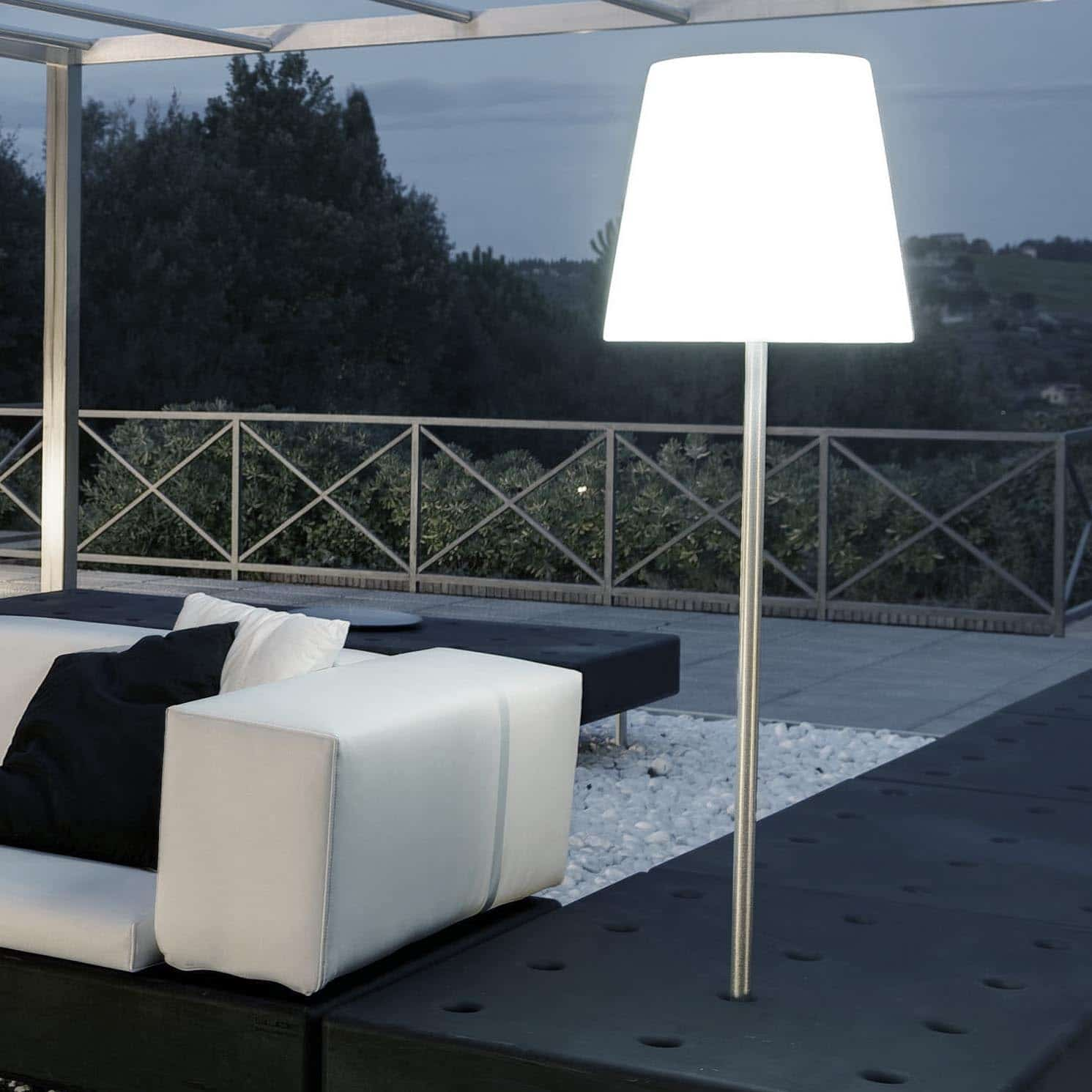 steck gartenleuchte slide fiaccola ali baba f r blumentr ge erdreich. Black Bedroom Furniture Sets. Home Design Ideas