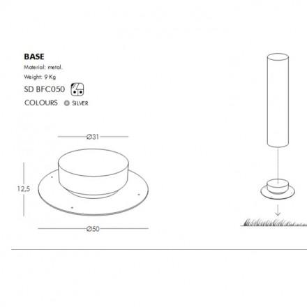 Slide FLUO BASE Sockel für FLUO mit Ø 30 cm