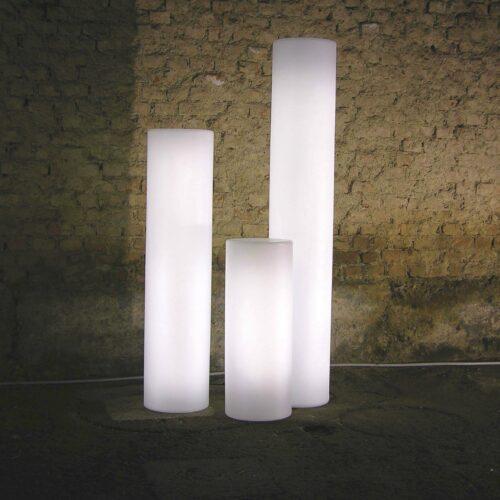 Slide FLUO Leuchtsäule Ø 30 cm, 4 Höhen bis 170 cm, Indoor