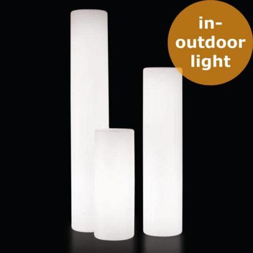 Slide FLUO Leuchtsäule Ø 30 cm, 4 Höhen bis 170 cm, Outdoor