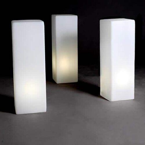 Slide IO Leuchtsäule Quader Form Indoor-Outdoor