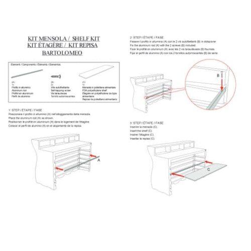 PLUST BARTOLOMEO SHELF KIT / Regalböden