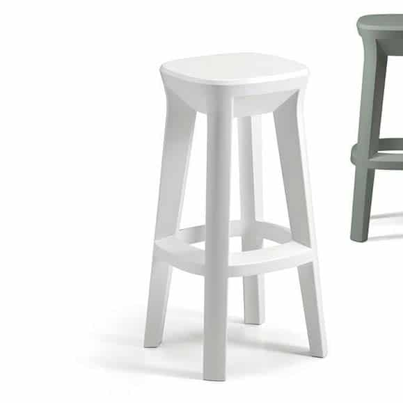 Design barhocker plust frozen square stool in out in 7 farben for Barhocker outdoor