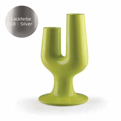 PLUST CACTUS SILVER XL Design-Pflanzgefäß