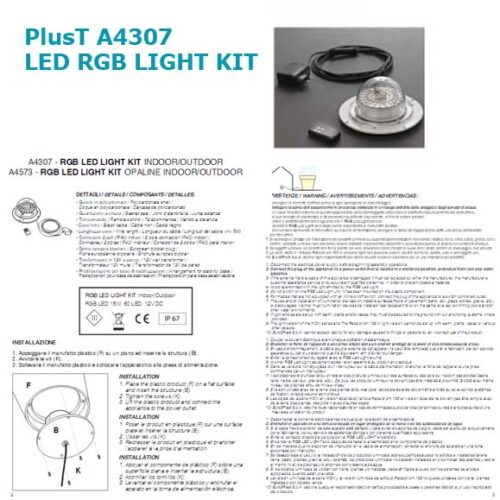 PLUST RGB LED Light Kit A4307 In-Outdoor