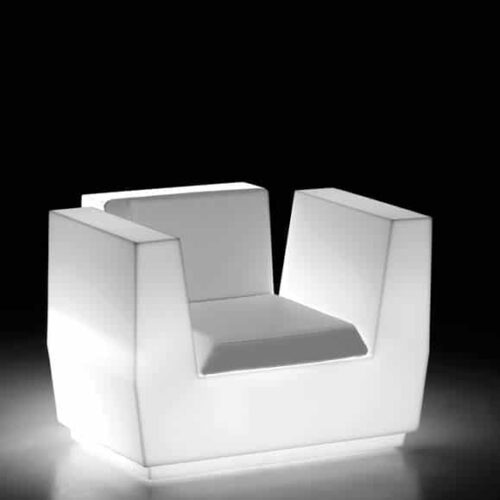 PLUST BIG CUT ARMCHAIR LIGHT inkl. Kissen In-Outdoor