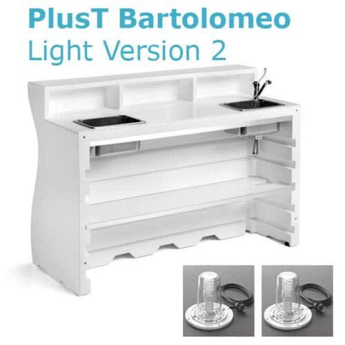 PlusT BARTOLOMEO DESK LIGHT V.2-3 inkl. Spül + Eiswürfel-Becken