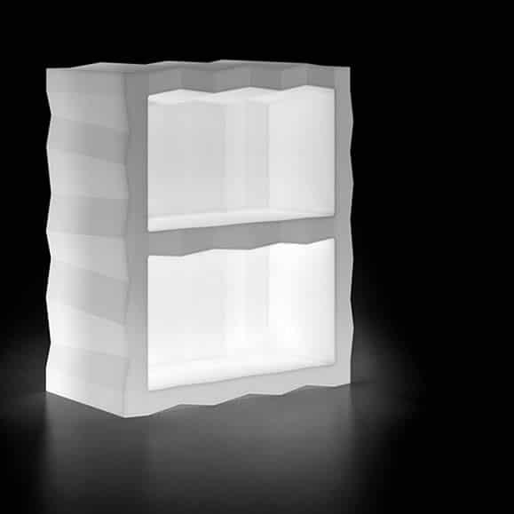 regal modul beleuchtet in outdoor der plust frozen collection. Black Bedroom Furniture Sets. Home Design Ideas