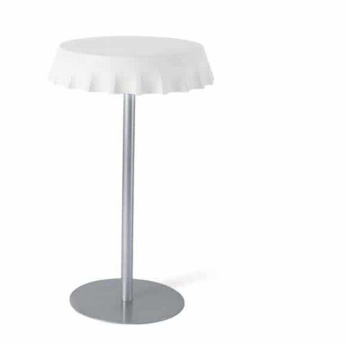 Slide FIZZZ LIGHT Tisch beleuchtet  Ø 70 cm, 3 Höhen Indoor