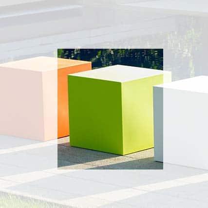 Sitzwürfel E3P-Style CUBE Kunststoff In-Outdoor 40x40x40 cm
