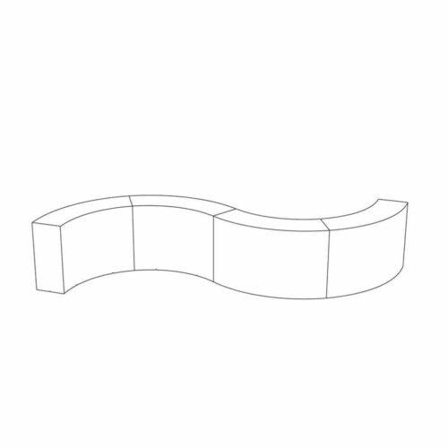 Slide SNACK Bar Theken Kombination 528-4 = 4 x SNACK Bar