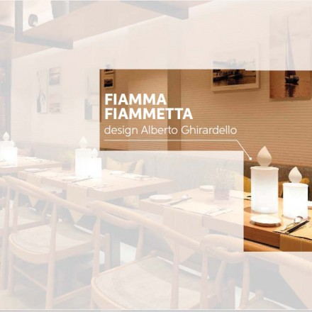 Slide FIAMMETTA / FIAMMETTA Kerze beleuchtet 22,5 oder 30 cm h