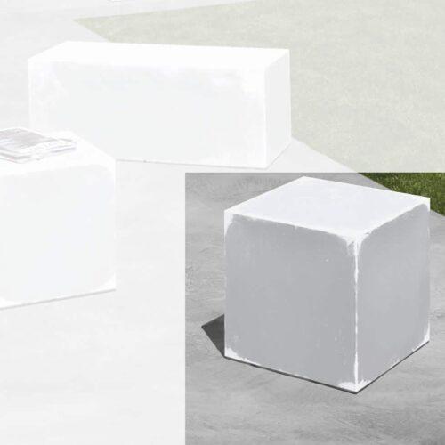 Sitz-Würfel E3P-Style CUBE 40x40x40 cm BIcolor Sonderfarbe