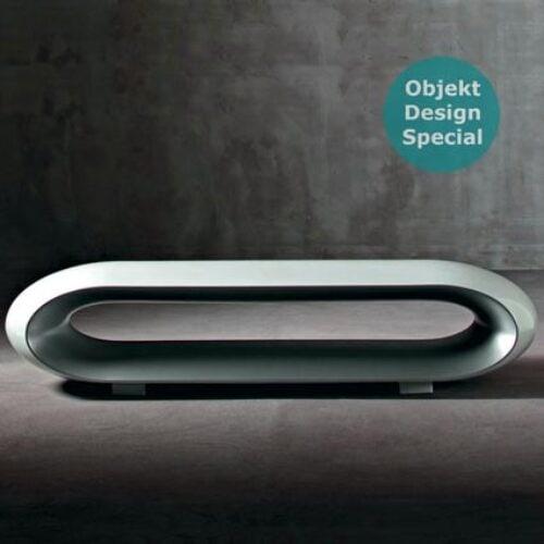 Serralunga LOOP LACK Designer Bank 180 cm, In-Outdoor