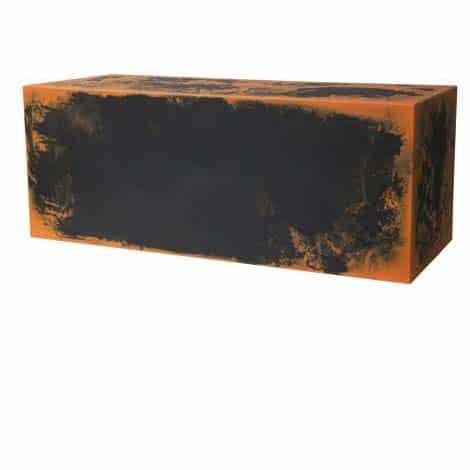 Sitzbank E3P KUBE BIcolor Sonderfarbe 100x40x40 cm h